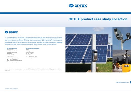 OPTEX Case Study Collection