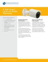 2.1MP Fixed Lens HD Bullet Cameras