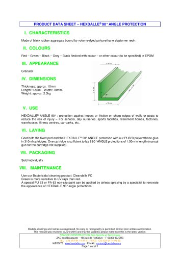 HEXDALLE® 90° ANGLE PROTECTION