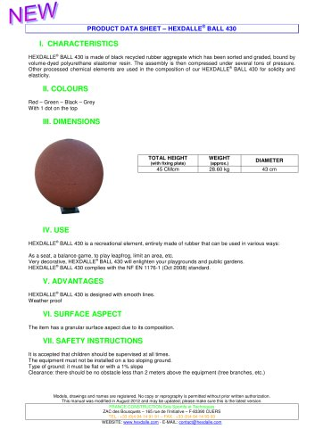HEXDALLE® BALL 430