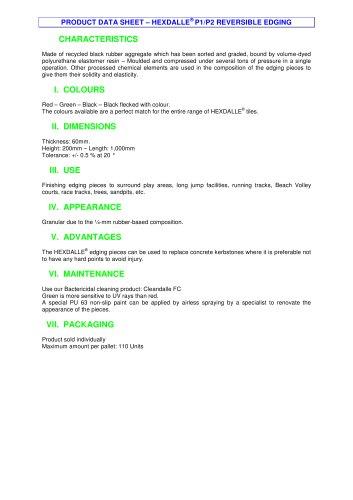 HEXDALLE® P1/P2 REVERSIBLE EDGING