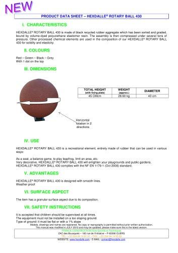 HEXDALLE® ROTARY BALL 430