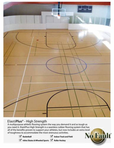 Basketball CourtS:synthetic Court Systems,ElastiPlus High-Strength