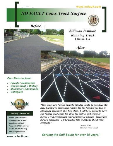 Regulation Running Track Surfaces