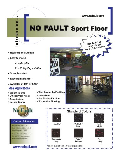 Synthetic Sport Rubber Flooring