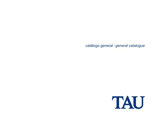 TAU CATALOGUE 2012