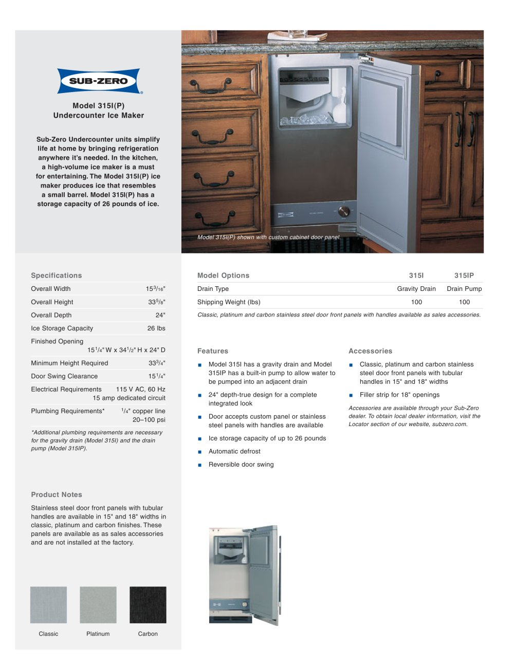 315i Ice Maker 1 Pages