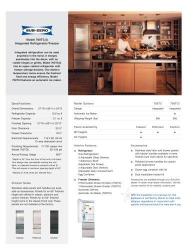 700TC Refrigerator/Freezer