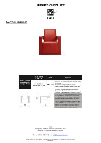 FAUTEUIL YING CUIR