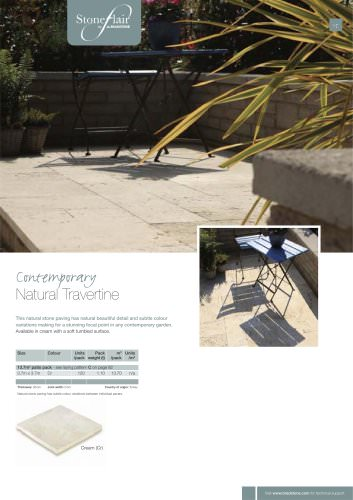 Contemporary paving Natural Travertine