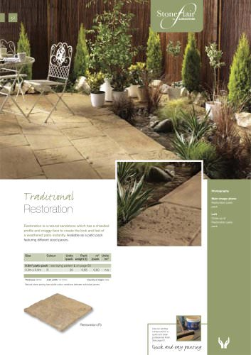 Contemporary paving Restoration