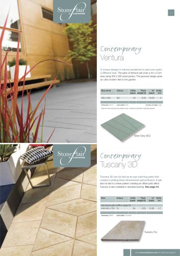 Contemporary paving Tuscany 3D