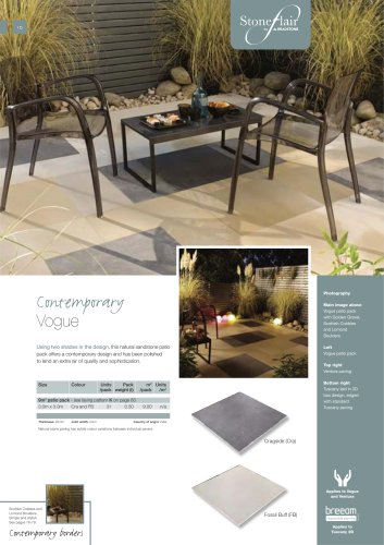 Contemporary paving Vogue