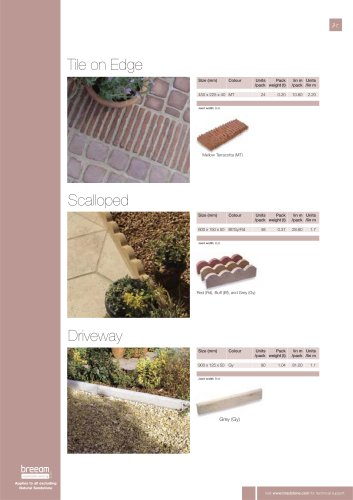Edgings Tile on Edge / Scalloped / Driveway