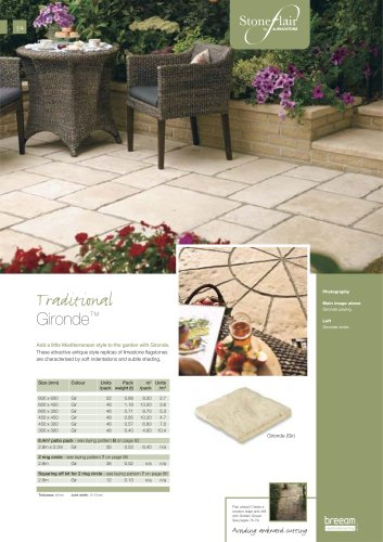 Traditional paving Gironde