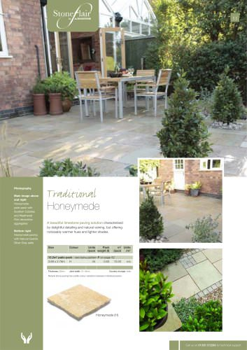 Traditional paving Honeymede