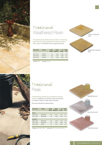 Traditional paving Textured