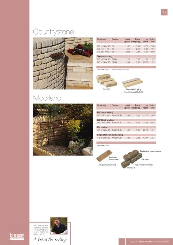 Walling and coping Countrystone