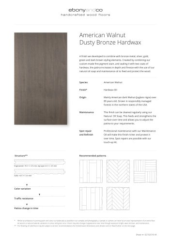 American Walnut Dusty Bronze Hardwax
