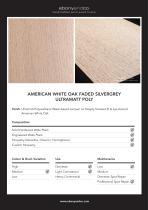 AMERICAN WHITE OAK FADED SILVERGREY ULTRAMATT  POLY