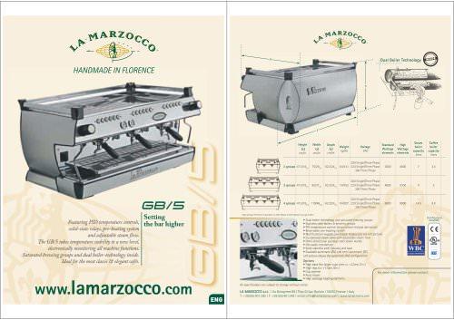 LA MARZOCCO FB 80 PDF