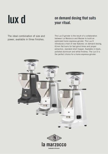 lux d - LA MARZOCCO - PDF Catalogs | Documentation | Brochures