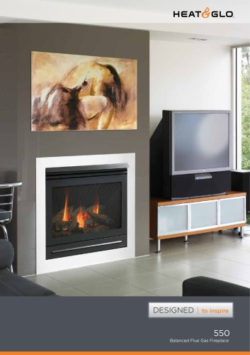550 Au Balanced Flue Gas Fireplace Heat Glo Pdf Catalogs