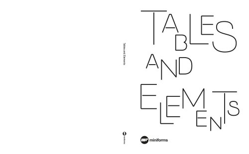 Tables and Elements