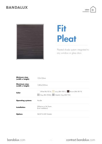 Fit Pleat