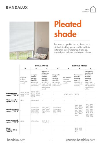Pleated shade