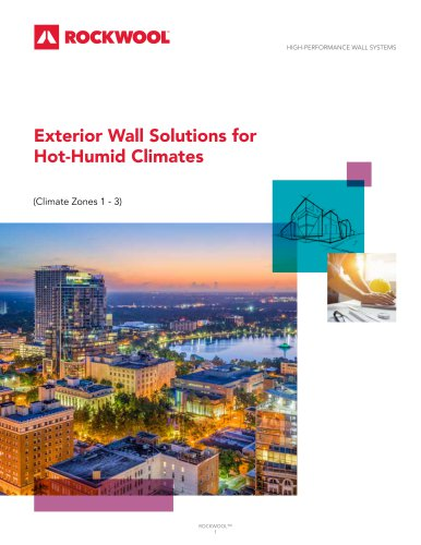 Exterior Wall Solutions for Hot-Humid Climates