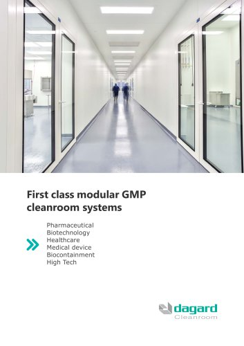 First class modular GMP cleanroom systems