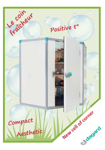 Refrigerating cell of corner