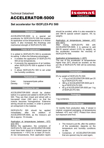 Technical Datasheet ACCELERATOR-5000