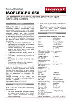 Technical Datasheet ISOFLEX-PU 650