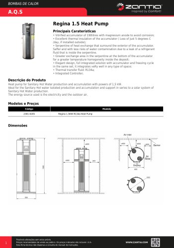 Regina 1.5 Heat Pump