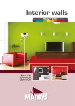 Interior walls - product guide