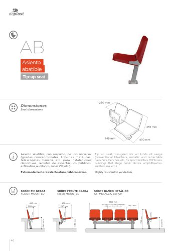 AB - tip-up seats