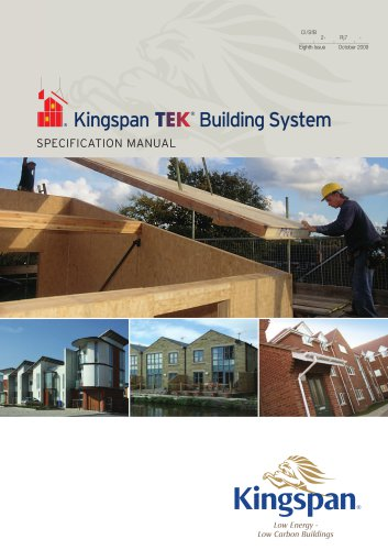 Kingspan TEK Specification Manual - Kingspan SIP System