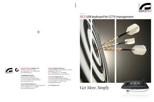 DCZ USB keyboard for CCTV management