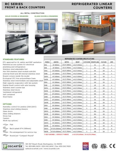 Refrigerated Counter:  Linear