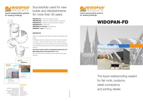 WIDOPAN-FD - Widopan - PDF Catalogs | Documentation | Brochures