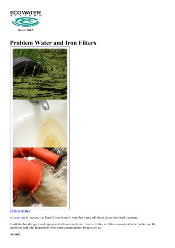 Whole Home Water Filtration & Drinking Water Systems