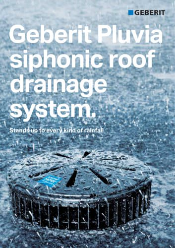 Geberit Pluvia siphonic roof drainage system.