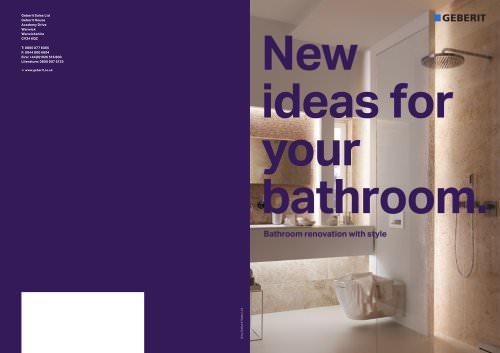 New ideas for your bathroom
