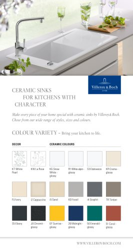 CERAMIC SINKS  FOR KITCHENS WITH  CHARACTER