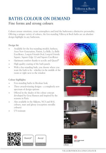 Color on demand - Fine forms and strong colours