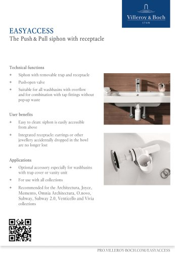 EasyAccess - The Push & Pull siphon with receptacle