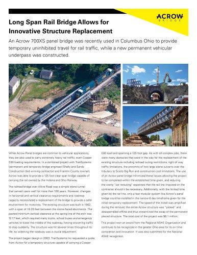 Long Span Rail Bridge Allows