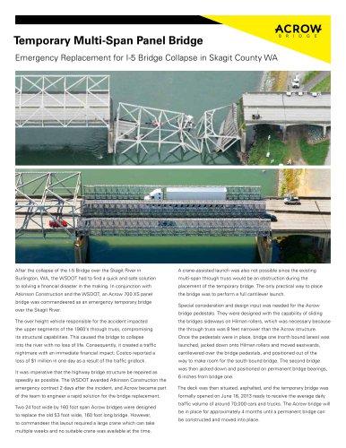 Temporary Multi-Span Panel Bridge
